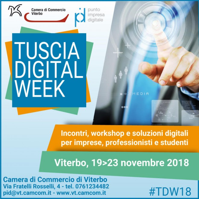 TUSCIA DIGITAL WEEK 19 23 Novembre 2018 3961ee54b1d7